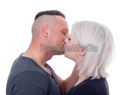 kiss kissing love couple young man