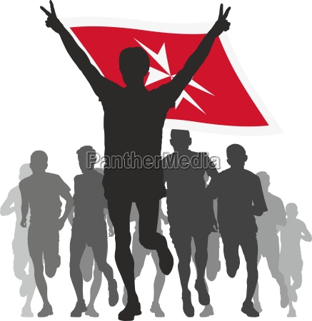 winner, with, the, malta, flag, at - 13960691