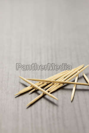 stack of wooden toothpicks as a