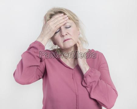 woman has pain