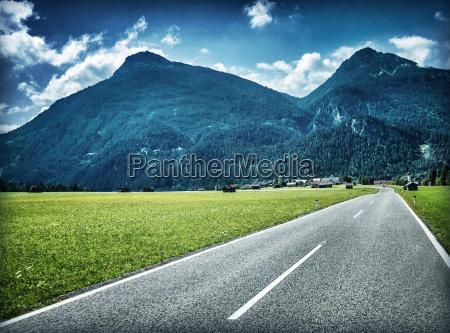 speed highway near mountains