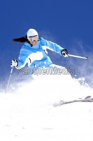 esqui de la mujer en utah