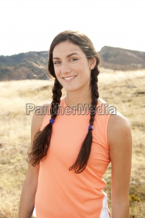 portrait of an athletic hispanic woman