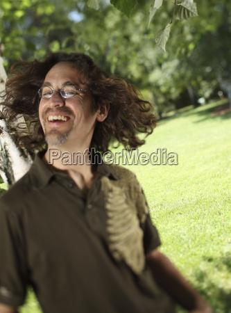 latino man with hair