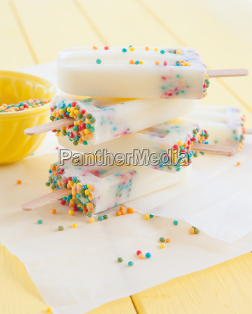 homemade ice cream on the stem