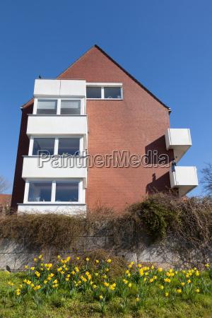 red brick residential house in bremen