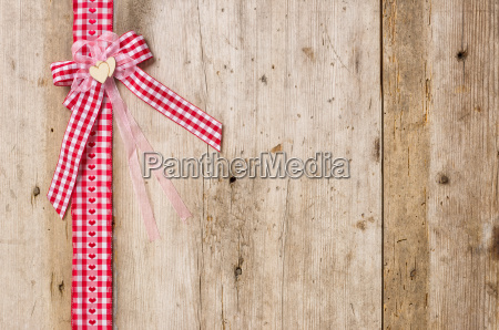 red gift ribbons with bow in