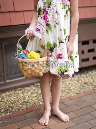 girl with her easter basket