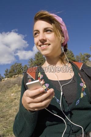 a girl hiking