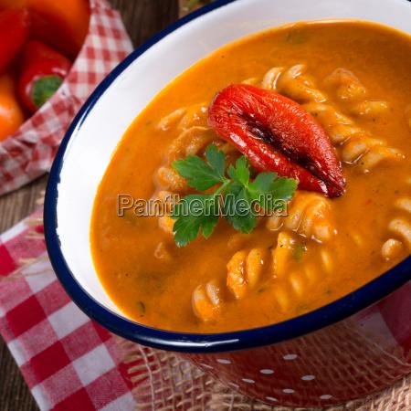 pepper soup so full grain noodles