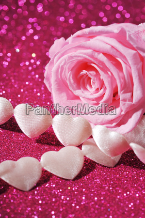 fabric heart with rose