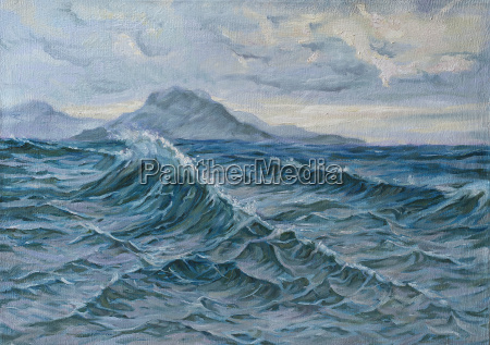 oil painting of a seascape