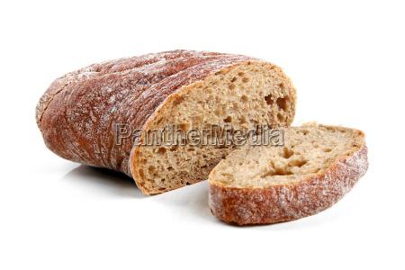ciabatta bread isolated on white background