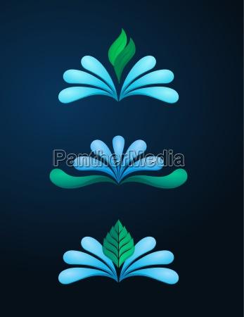 spring water logo template