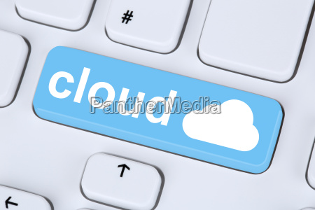 symbol cloud computing online on the
