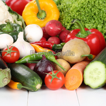 vegetables such as tomatoes peppers lettuce
