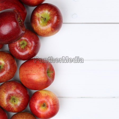 red apple apple fruits with text