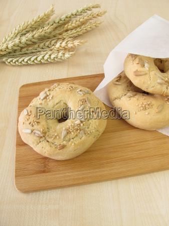 home-made, breakfast, bagels - 14038337