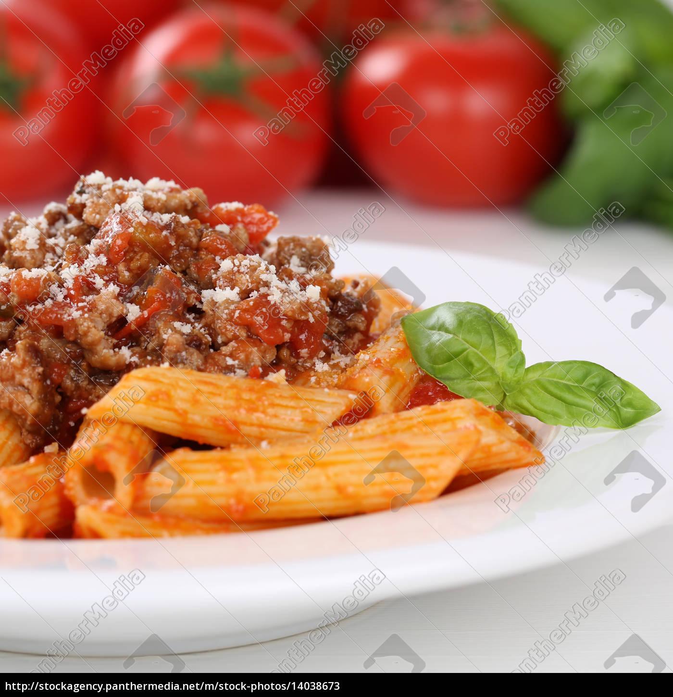 italian, food, penne, rigate, bolognese, sauce - 14038673