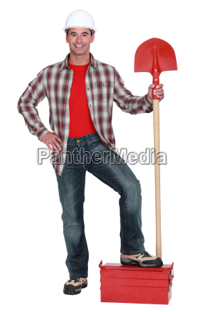 builder, with, a, shovel - 14039651