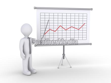 businessman, presenting, statistics - 14039315