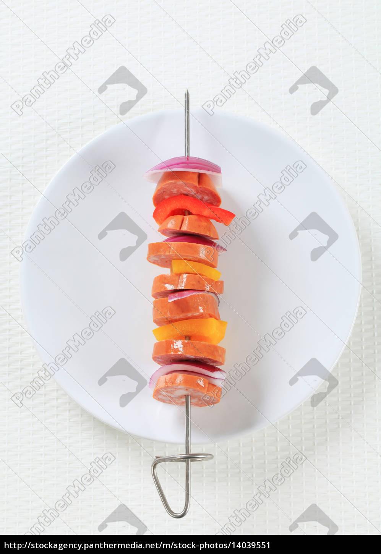 sausage, skewer - 14039551