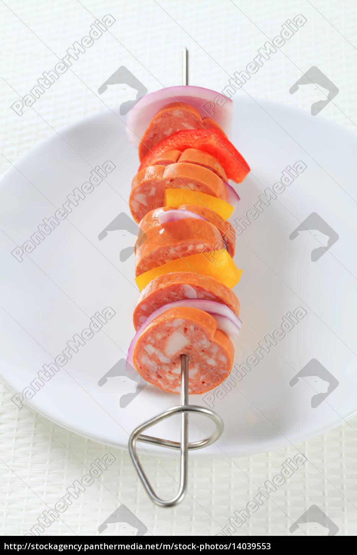 sausage, skewer - 14039553