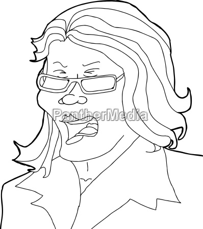 outline, of, yelling, lady - 14040157