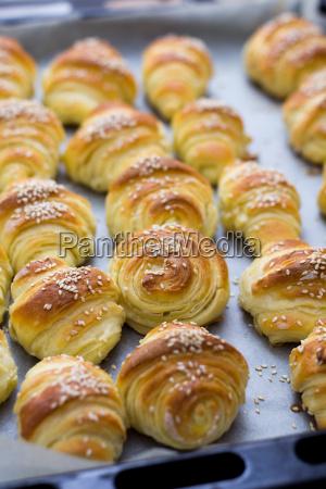 fresh, baked, croissants - 14041821