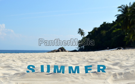 summer, and, beach, concept - 14042963