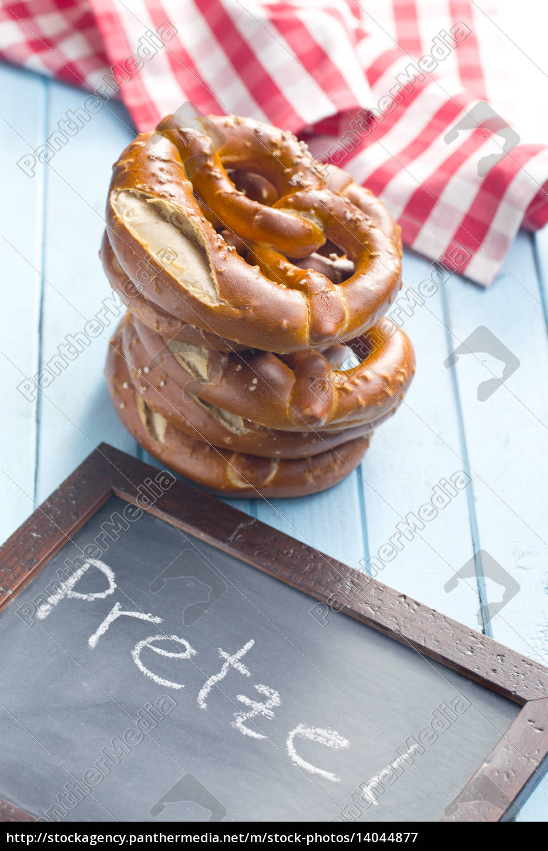baked, pretzels, and, chalkboard - 14044877
