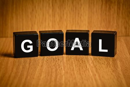 business, goal, word, on, black, block - 14044471