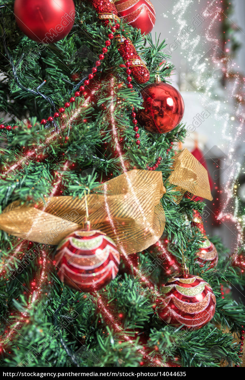 christmas, tree, closeup - 14044635