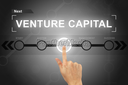 hand, clicking, venture, capital, button, on - 14044445