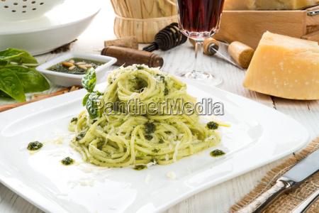 pasta, with, pesto, alla, genovese - 14044159