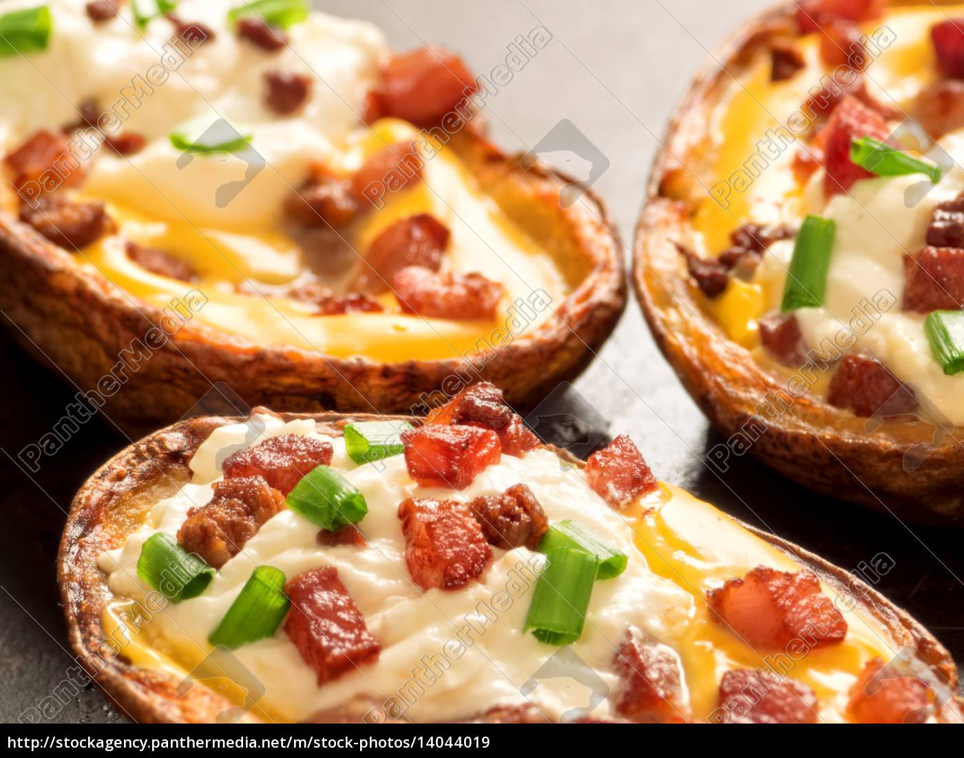 rustic, baked, potato, skin - 14044019