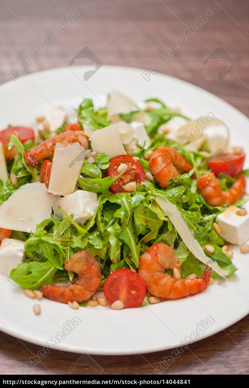 shrimp, vegetable, salad - 14044841