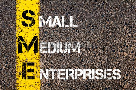 business acronym sme as small medium