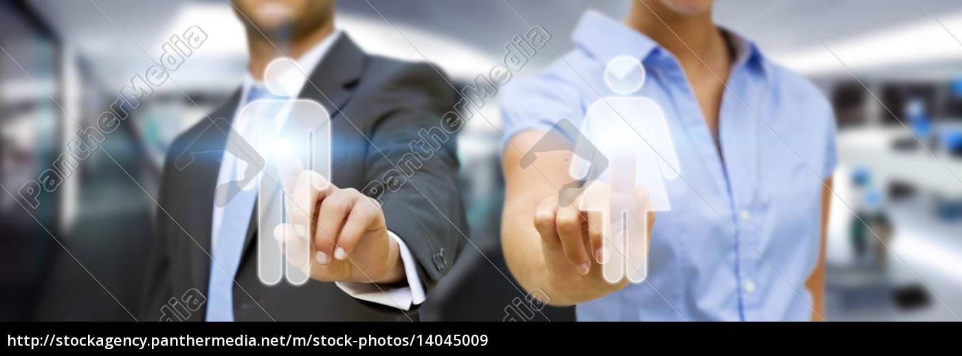 man, and, woman, using, digital, interface - 14045009