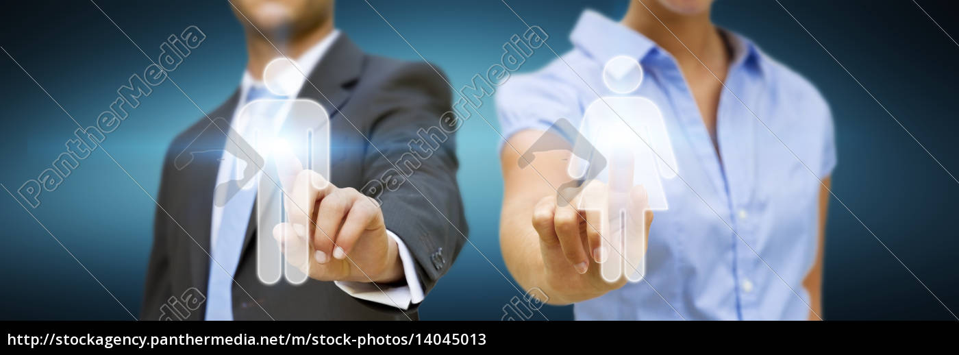man, and, woman, using, digital, interface - 14045013