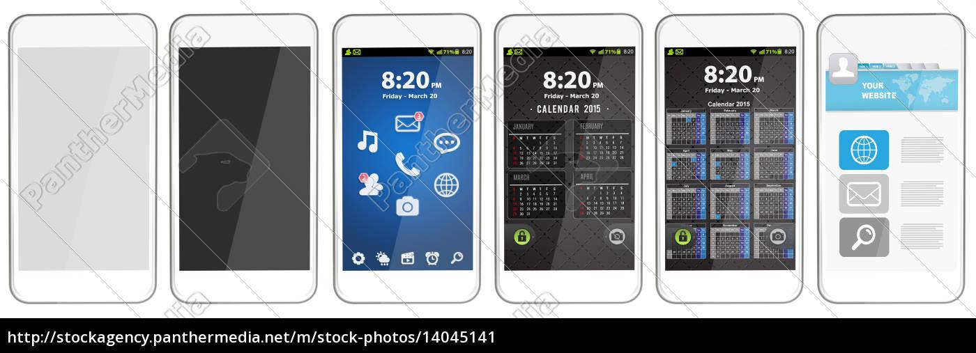 modern, digital, phone - 14045141