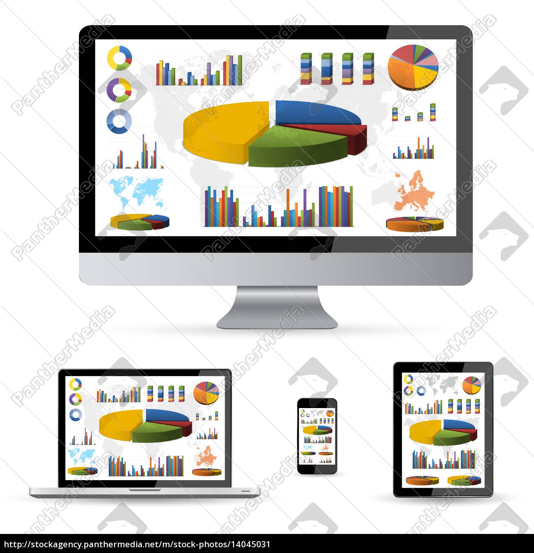 modern, digital, tech, device, collection - 14045031