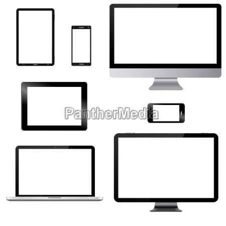modern, digital, tech, device, collection - 14045187