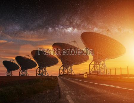 radio, telescope, view, at, night - 14045169