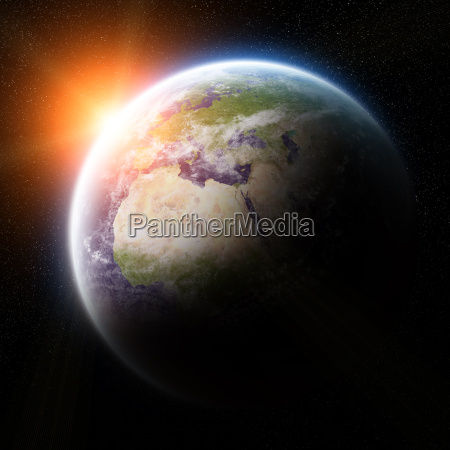 sunrise, over, planets, in, space - 14045059