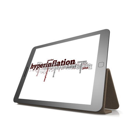 hyperinflation, word, cloud, on, tablet - 14046729