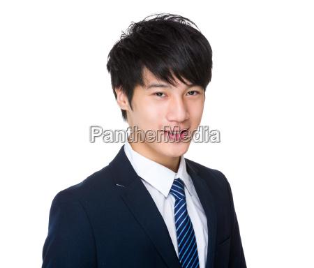 asian, businessman, smile, face - 14047705