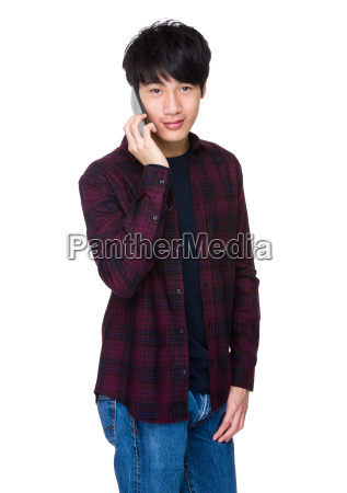 asian, man, using, mobile, smart, phone - 14047695