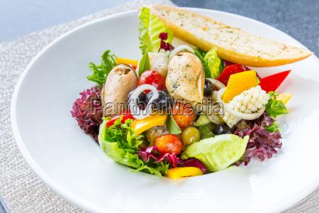greek, seafood, salad - 14047513