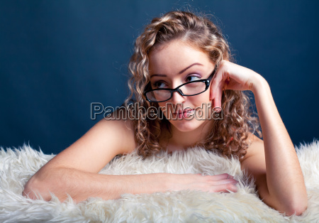 woman, in, glasses - 14047601